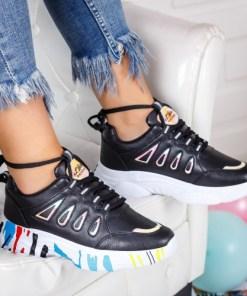 Pantofi sport dama piele ecologica negri Storima