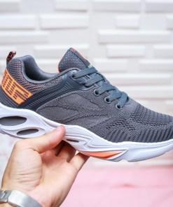 Pantofi sport dama textil gri Rigami