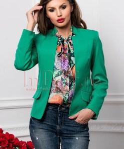 Sacou dama tip blazer verde