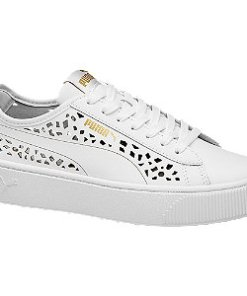 Pantofi de dama cu sireturi VIKKY STACKED LASER CUTS