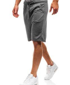 Pantaloni scurți sportivi pentru bărbat grafit Bolf KK301