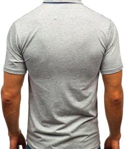 Tricou polo bărbați gri Bolf 192037