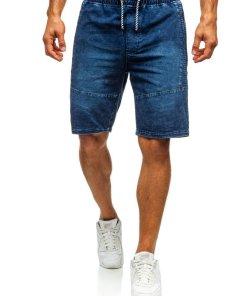 Pantaloni scurți denim bărbați bleumarin Bolf 5786