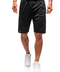Pantaloni scurți sport bărbați negri Bolf DK01