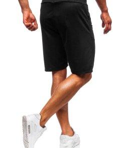 Pantaloni scurți sport bărbați negru Bolf B1001