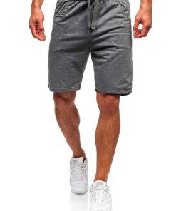 Pantaloni scurți bărbați grafit Bolf B1002