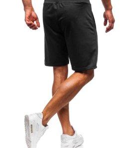 Pantaloni scurți training bărbați negru Bolf AA10-A