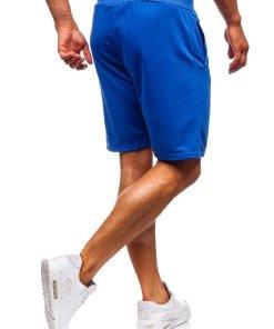 Pantaloni scurți training bărbați albastru Bolf AA10-A