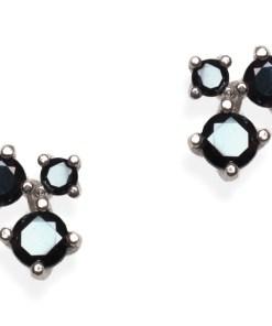 Cercei Argint 3 Black Drops