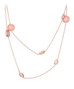 Colier Argint Peach Drops