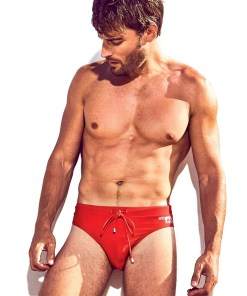 Slip de baie barbatesc DAVID 52 Basic Slip Red