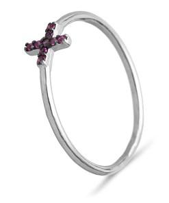Inel Argint Cruce