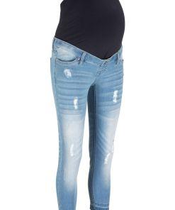 Blugi gravide 7/8, skinny bonprix - albastru prespalat