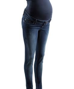 Blugi Skinny pentru gravide bonprix - denim închis
