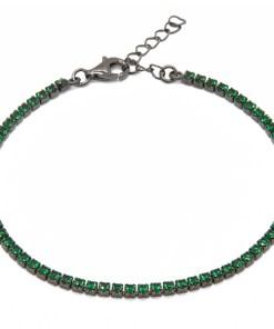 Bratara Argint Deep Green M