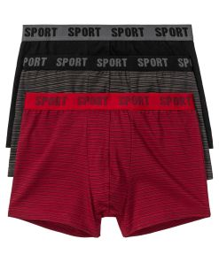 Chilot Boxer bonprix - rosu dungi-negru dungi-negru uni
