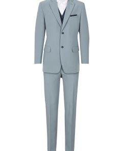 Costum barbati (5piesa) bonprix - gri argintiu