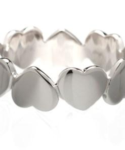 Inel Argint Hearts