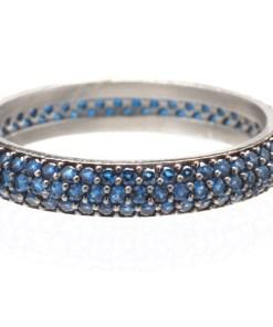 Inel Argint Trio Blue