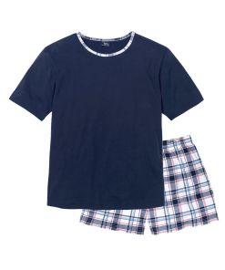 Pijama cu pantaloni scurti bonprix - bleumarin cadrilat