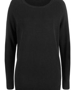 Pulover tricotata bumbac reciclat bonprix - negru
