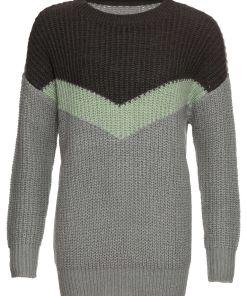 Pulover tricotatabonprix - gri închis-gri deschis-argintiu-gri