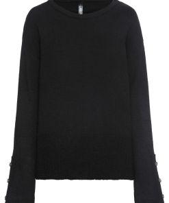 Pulover tricotata nasturi imitatie corn bonprix - negru