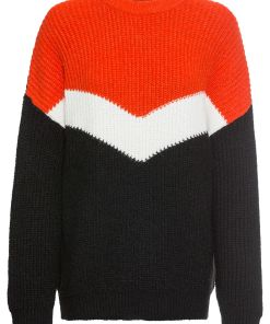 Pulover tricotatabonprix - rosu/alb/negru