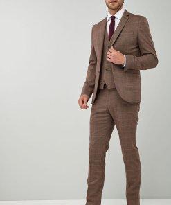 Sacou skinny elegant cu model in carouri 1514849