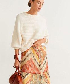 Pulover din tricot cu perforatii Paris 2152705