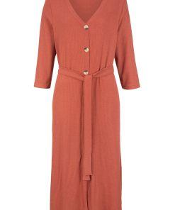 Rochie midi design Maite Kelly bonprix - rosu-cuarț