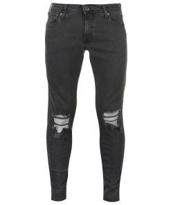 Blugi skinny fit Jack and Jones Liam Skinny Rip Jeans