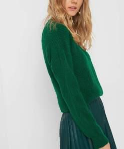 Pulover împletit - Verde