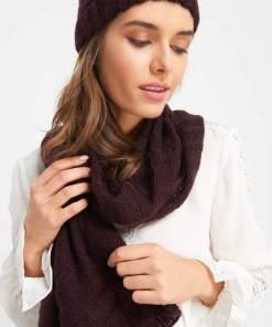 Fular din tricot - Violet
