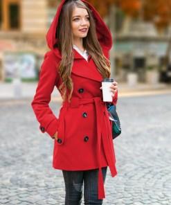 Palton cu gluga Alexis Rosu