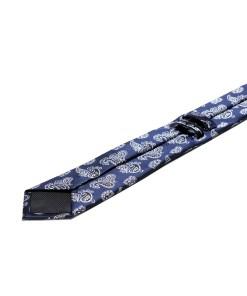 Cravata Matase Bleumarin Floral CR007-136