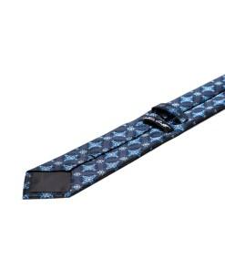 Cravata Matase Bleumarin Floral CR007-146