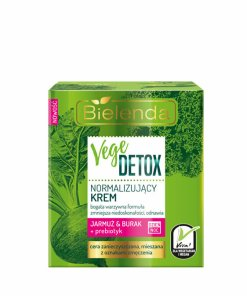 Crema de fata normalizanta pentru piele mixta cu Sfecla si Nap + prebiotic Vege Detox, 50 ml