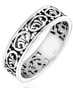Bijuterii eshop - Inel argint 925 - detalii cioplite H17.16 - Marime inel: 50