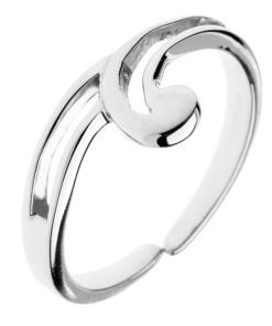 Bijuterii eshop - Inel argint 925 - prosuberan?? în forma de onduleu, linie dubl?, ajustabil C23.18