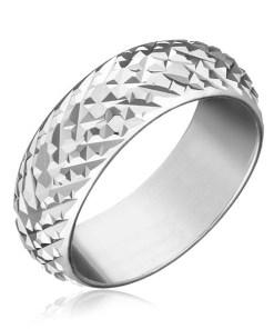 Bijuterii eshop - Inel argint 925 - romburi lucioasa proeminente H14.13 - Marime inel: 50