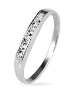Bijuterii eshop - Inel argint - linie stralucitoare de zirconiu E7.5 - Marime inel: 50