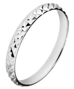 Bijuterii eshop - Inel argint lucios - romburi proeminente H13.10 - Marime inel: 50