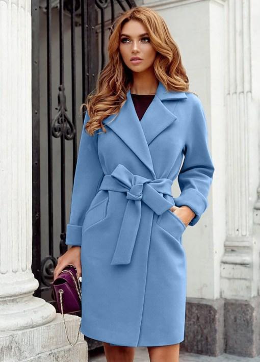 Palton stofa Dolly Bleu