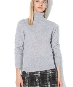 Pulover cu guler inalt - de lana Merinos