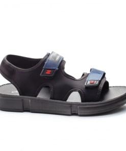 Sandale Tanicu negre cu albastru -rl