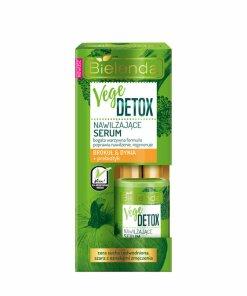 Ser hidratant fata pentru piele uscata cu Broccoli + dovleac + prebiotic Vege Detox, 15 ml