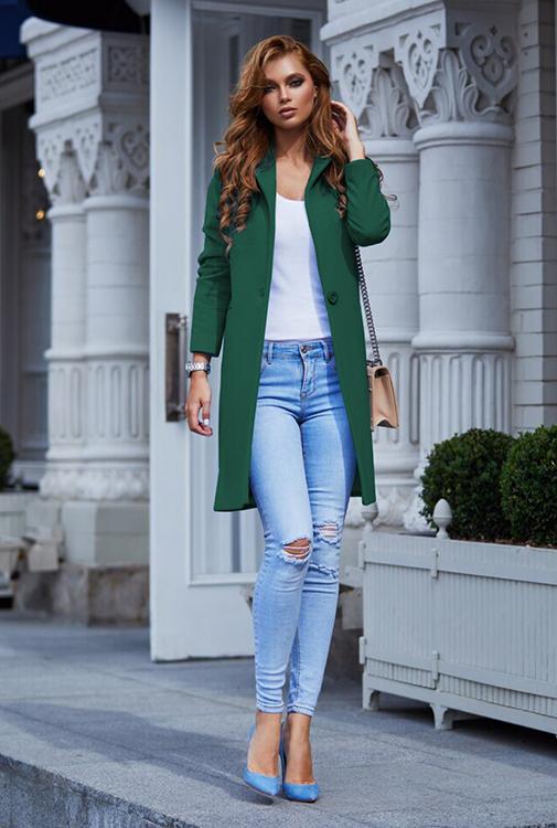 Palton stofa Akira Verde