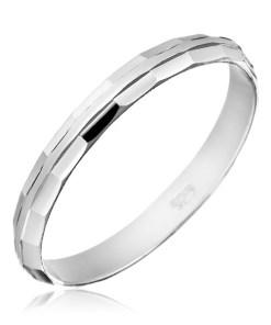 Bijuterii eshop - Verigheta argint 925 - margini decorate H13.4 - Marime inel: 50
