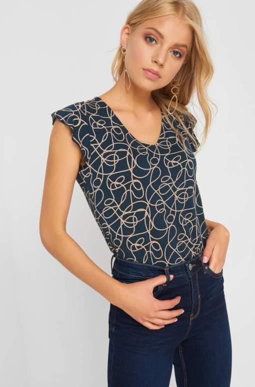 Tricou cu print geometric